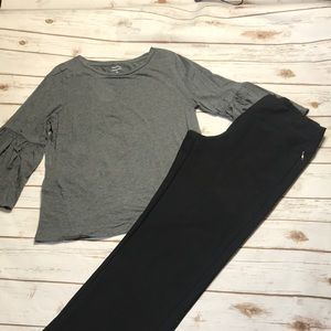 Black straight leg Lucy yoga waist trousers